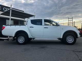 2012 Mitsubishi Triton MN MY12 GLX Double Cab White 5 Speed Manual Utility.
