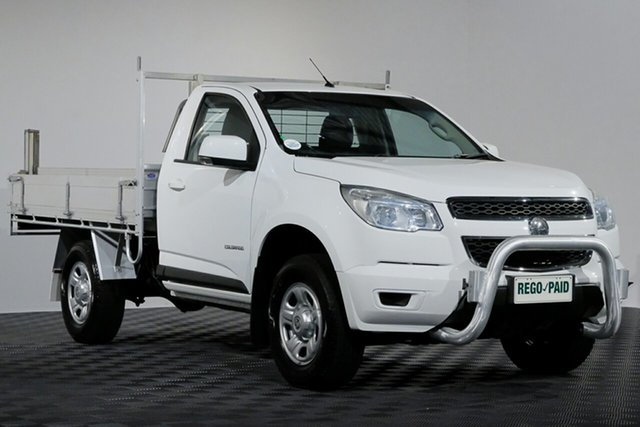 Used Holden Colorado RG MY15 LS 4x2, 2014 Holden Colorado RG MY15 LS 4x2 Summit White 6 speed Manual Cab Chassis