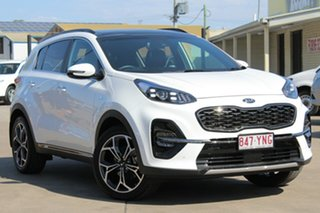 2018 Kia Sportage QL MY19 GT-Line AWD Clear White 6 Speed Sports Automatic Wagon.