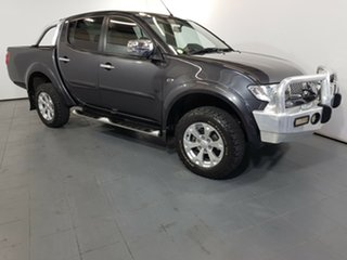 2014 Mitsubishi Triton MN MY15 GLX-R Double Cab Grey 5 Speed Manual Utility