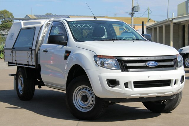Used Ford Ranger PX XL 4x2 Hi-Rider, 2014 Ford Ranger PX XL 4x2 Hi-Rider White 6 Speed Sports Automatic Cab Chassis