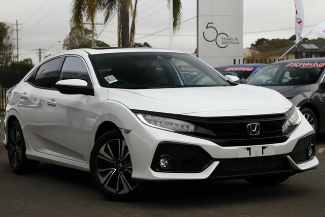 New Honda Civic 10th Gen MY19 VTi-LX, 2019 Honda Civic 10th Gen MY19 VTi-LX Platinum White 1 Speed Constant Variable Hatchback