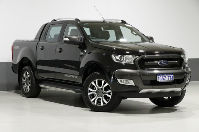 Used Ford Ranger PX MkII MY18 Wildtrak 3.2 (4x4), 2018 Ford Ranger PX MkII MY18 Wildtrak 3.2 (4x4) Black 6 Speed Automatic Dual Cab Pick-up
