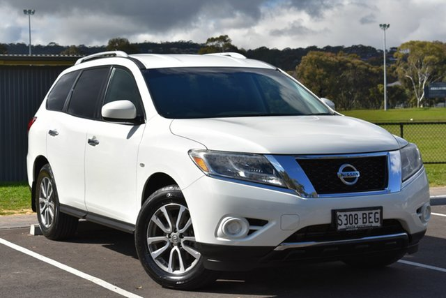 Used Nissan Pathfinder R52 MY14 ST X-tronic 2WD, 2014 Nissan Pathfinder R52 MY14 ST X-tronic 2WD White 1 Speed Constant Variable Wagon