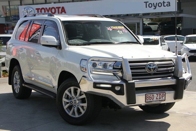 Used Toyota Landcruiser VDJ200R Sahara, 2016 Toyota Landcruiser VDJ200R Sahara Crystal Pearl 6 Speed Sports Automatic Wagon