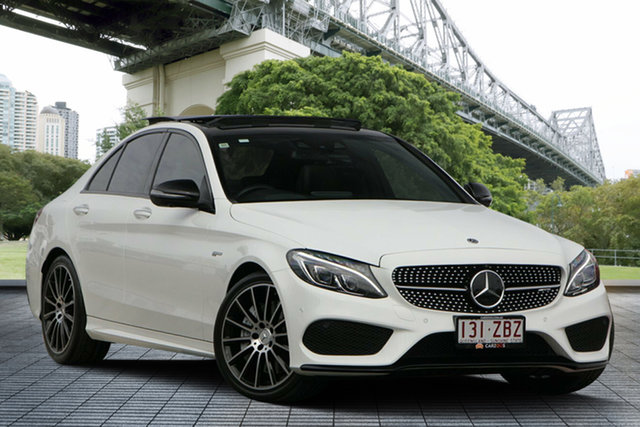 Used Mercedes-Benz C43 W205 808MY AMG 9G-Tronic 4MATIC, 2017 Mercedes-Benz C43 W205 808MY AMG 9G-Tronic 4MATIC White 9 Speed Sports Automatic Sedan