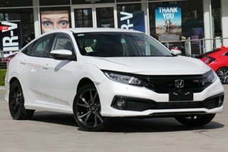 2020 Honda Civic 10th Gen MY20 RS Platinum White 1 Speed Constant Variable Sedan.