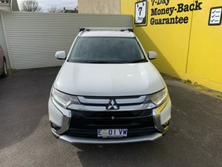 2015 Mitsubishi Outlander ZK MY16 LS 4WD White 6 Speed Constant Variable Wagon.