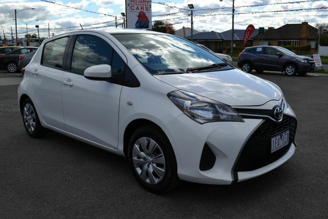 Used Toyota Yaris NCP130R MY15 Ascent, 2015 Toyota Yaris NCP130R MY15 Ascent White 4 Speed Automatic Hatchback