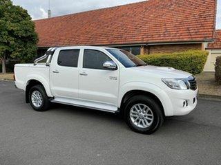 2014 Toyota Hilux KUN26R SR5 White 5 Speed Manual Dual Cab