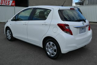 2015 Toyota Yaris NCP130R MY15 Ascent White 4 Speed Automatic Hatchback.