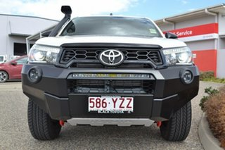 2018 Toyota Hilux GUN126R MY19 Rugged X (4x4) Crystal Pearl 6 Speed Manual Double Cab Pickup.