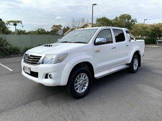 2014 Toyota Hilux KUN26R SR5 White 5 Speed Manual Dual Cab.