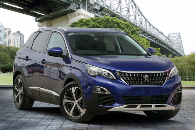 Used Peugeot 3008 P84 MY18 Allure SUV, 2018 Peugeot 3008 P84 MY18 Allure SUV Blue 6 Speed Sports Automatic Hatchback