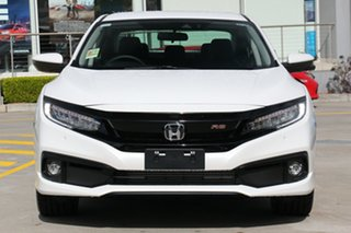 2020 Honda Civic 10th Gen MY20 RS Platinum White 1 Speed Constant Variable Sedan
