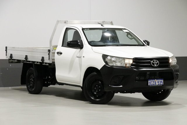 Used Toyota Hilux TGN121R Workmate, 2015 Toyota Hilux TGN121R Workmate White 5 Speed Manual Cab Chassis