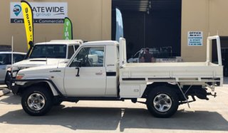 2009 Toyota Landcruiser VDJ79R MY10 GX White 5 Speed Manual Cab Chassis