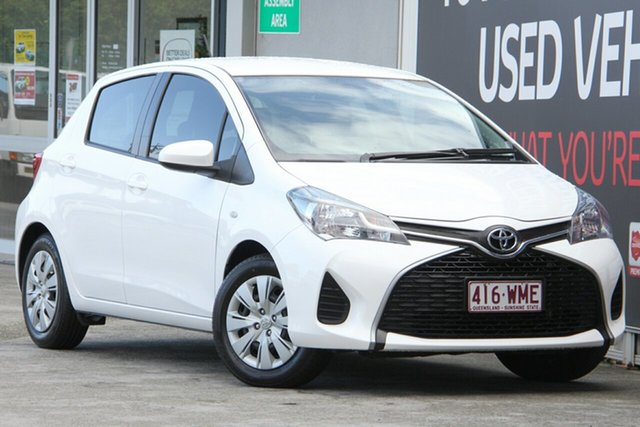 Used Toyota Yaris NCP130R Ascent, 2016 Toyota Yaris NCP130R Ascent Glacier White 4 Speed Automatic Hatchback