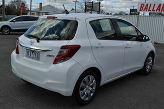 2015 Toyota Yaris NCP130R MY15 Ascent White 4 Speed Automatic Hatchback