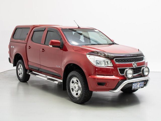 Used Holden Colorado RG LX (4x4), 2013 Holden Colorado RG LX (4x4) Red 5 Speed Manual Crew Cab Pickup