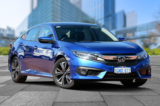 2017 Honda Civic 10th Gen MY17 VTi-LX Blue 1 Speed Constant Variable Sedan.