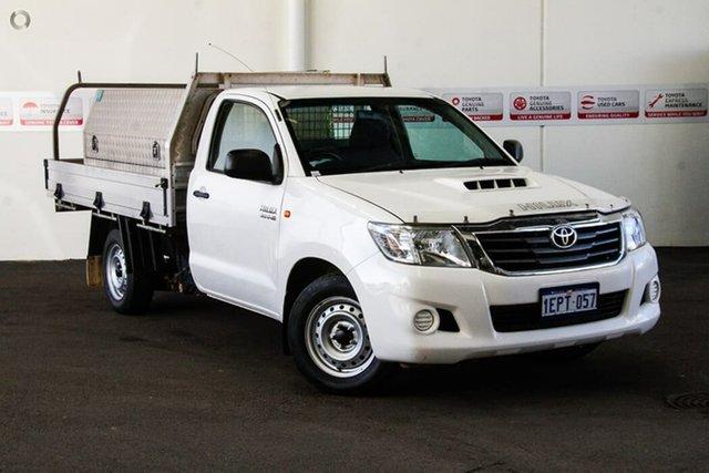 Used Toyota Hilux KUN16R MY14 SR, 2014 Toyota Hilux KUN16R MY14 SR Glacier White 5 Speed Manual Cab Chassis