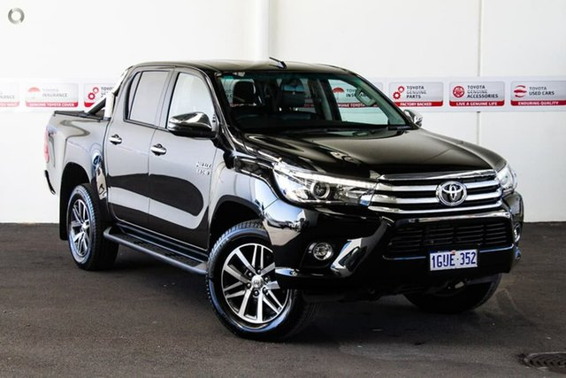 Used Toyota Hilux GUN126R MY17 SR5+ (4x4), 2018 Toyota Hilux GUN126R MY17 SR5+ (4x4) Eclipse Black 6 Speed Automatic Dual Cab Utility