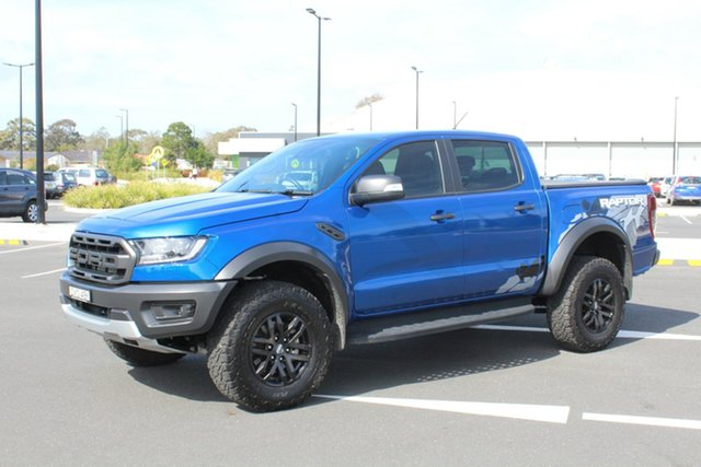 Used Ford Ranger PX MkIII 2019.00MY Raptor Pick-up Double Cab, 2018 Ford Ranger PX MkIII 2019.00MY Raptor Pick-up Double Cab Blue Lightning 10 Speed
