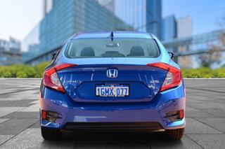 2017 Honda Civic 10th Gen MY17 VTi-LX Blue 1 Speed Constant Variable Sedan