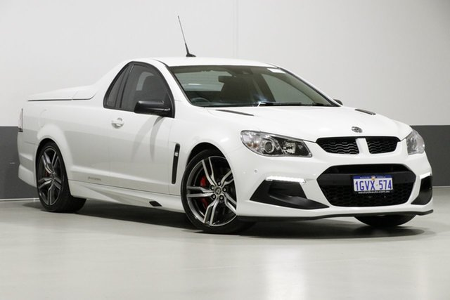 Used Holden Special Vehicles Maloo Gen F2 R8 LSA, 2016 Holden Special Vehicles Maloo Gen F2 R8 LSA White 6 Speed Manual Utility