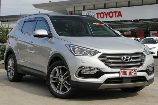Used Hyundai Santa Fe DM3 MY16 Highlander, 2016 Hyundai Santa Fe DM3 MY16 Highlander Silver 6 Speed Sports Automatic Wagon