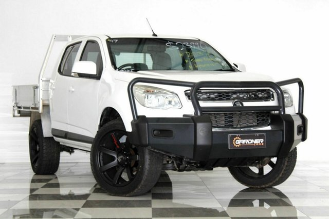 Used Holden Colorado RG LX (4x2), 2013 Holden Colorado RG LX (4x2) White 6 Speed Automatic Crew Cab Pickup