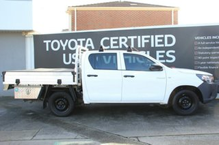 2016 Toyota Hilux TGN121R Workmate Double Cab 4x2 Glacier White 6 Speed Sports Automatic Utility