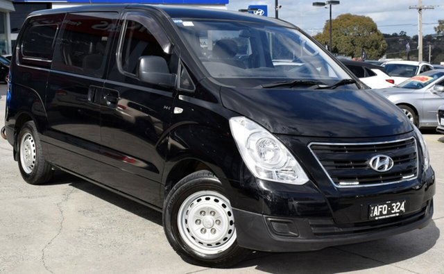 Used Hyundai iLOAD TQ3-V Series II MY16 Crew Cab, 2015 Hyundai iLOAD TQ3-V Series II MY16 Crew Cab Black/Grey 5 Speed Automatic Van