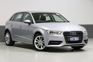 2015 Audi A3 8V MY15 Sportback 1.6 TDI Attraction Silver 7 Speed Auto Direct Shift Hatchback.