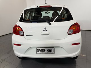 2018 Mitsubishi Mirage LA MY18 ES White 1 Speed Constant Variable Hatchback