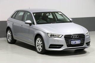 2015 Audi A3 8V MY15 Sportback 1.6 TDI Attraction Silver 7 Speed Auto Direct Shift Hatchback
