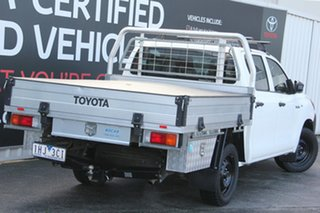 2016 Toyota Hilux TGN121R Workmate Double Cab 4x2 Glacier White 6 Speed Sports Automatic Utility.