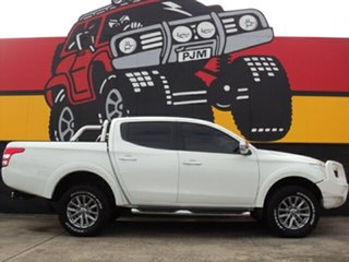 2015 Mitsubishi Triton MQ MY16 GLS Double Cab Alpine White 6 Speed Manual Utility.