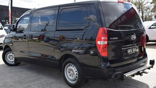 2015 Hyundai iLOAD TQ3-V Series II MY16 Crew Cab Black/Grey 5 Speed Automatic Van.