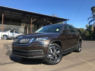 2019 Skoda Kodiaq NS MY19 132TSI DSG Brown 7 Speed Sports Automatic Dual Clutch Wagon.
