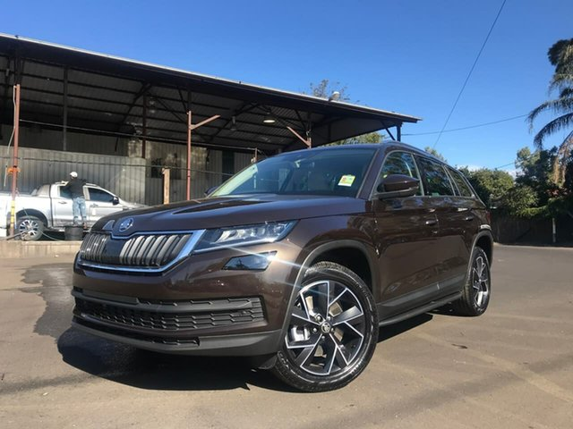 Demo Skoda Kodiaq NS MY19 132TSI DSG, 2019 Skoda Kodiaq NS MY19 132TSI DSG Brown 7 Speed Sports Automatic Dual Clutch Wagon