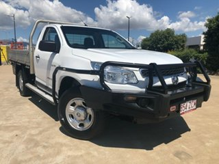 2012 Holden Colorado RG MY13 DX White 5 Speed Manual Cab Chassis.