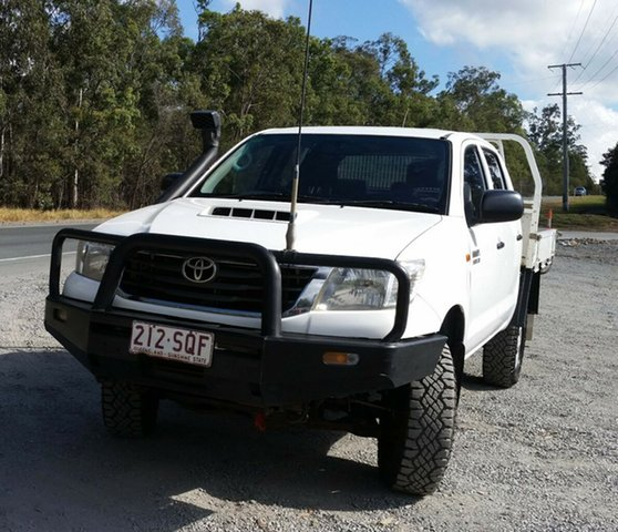 Used Toyota Hilux KUN26R MY12 SR Double Cab, 2012 Toyota Hilux KUN26R MY12 SR Double Cab 4 Speed Automatic Utility