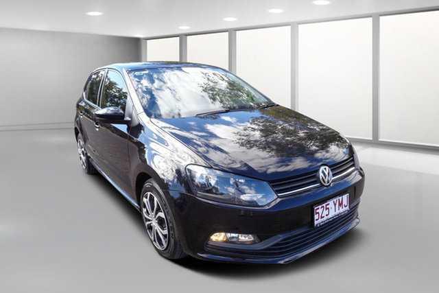 Used Volkswagen Polo 6R MY16 66 TSI Trendline, 2015 Volkswagen Polo 6R MY16 66 TSI Trendline Black 5 Speed Manual Hatchback