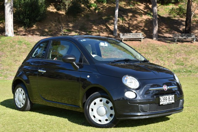 Used Fiat 500 Series 1 POP, 2014 Fiat 500 Series 1 POP Black 5 Speed Manual Hatchback