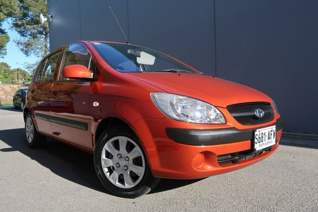 Used Hyundai Getz TB MY09 SX, 2009 Hyundai Getz TB MY09 SX Red 5 Speed Manual Hatchback