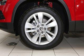 2019 Skoda Karoq NU MY19 110TSI DSG FWD Red 7 Speed Sports Automatic Dual Clutch Wagon.