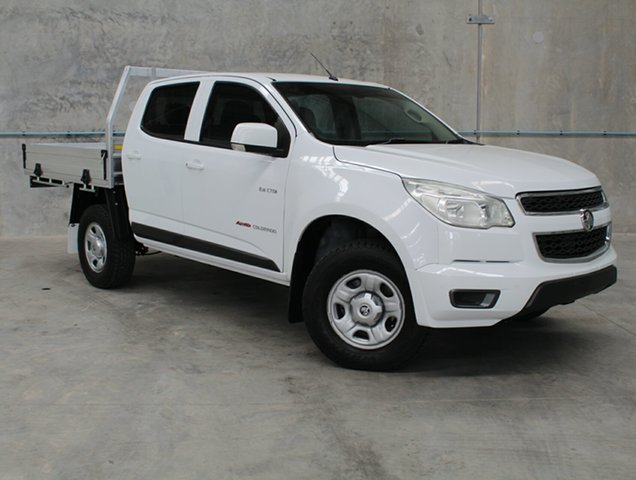 Used Holden Colorado RG MY13 LX Crew Cab, 2013 Holden Colorado RG MY13 LX Crew Cab White 6 Speed Sports Automatic Cab Chassis