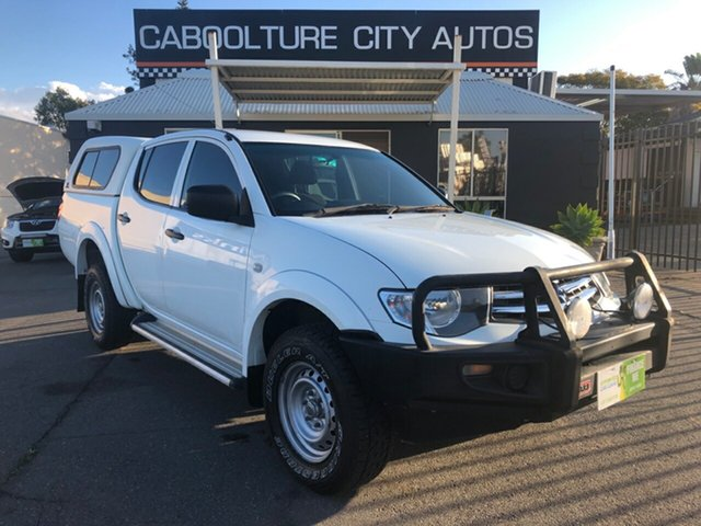 Used Mitsubishi Triton MN MY15 GLX Double Cab 4x2, 2014 Mitsubishi Triton MN MY15 GLX Double Cab 4x2 White 4 Speed Sports Automatic Utility